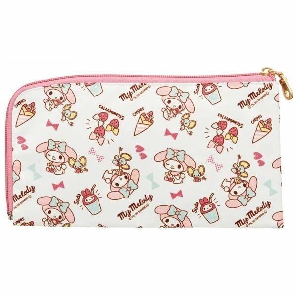 【草莓卡通館】Sanrio 三麗鷗 Melody 美樂蒂 拉鍊口罩收納袋
