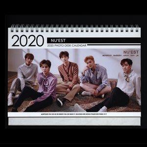 【 特價 】韓國進口 NU'EST  ARON JR 白虎 旼炫 REN 2020 ~ 2021 直立式照片桌曆台曆