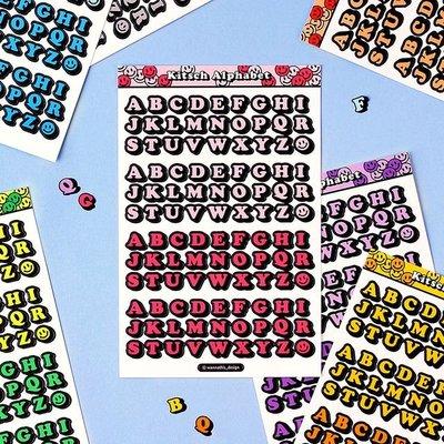 ❅PAVEE❅韓國wannathis~ Kitsch Alphabet 咕卡手帳手機 3D立體字型裝飾貼紙~大寫字母