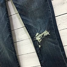 Maple麋鹿小舖 Abercrombie&Fitch * AF 破損風合身牛仔長褲 * ( 現貨27S號 )
