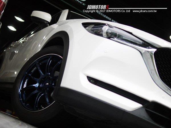 JD-MOTORS日本原裝 ADVAN Racing RZII IBR 藍色 旋壓19吋輪圈 MAZDA CX5 實裝