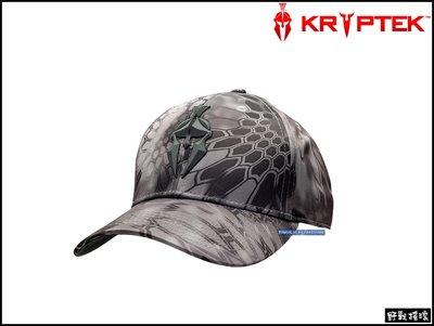 【野戰搖滾-生存遊戲】美國 Kryptek 斯巴達LOGO棒球帽【Neptune】 戰術帽黑灰色蟒蛇紋小帽軍帽