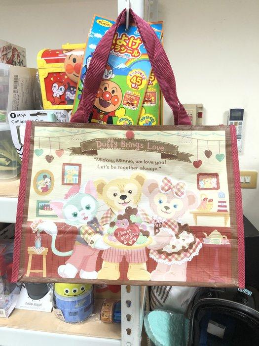 日本東京迪士尼 Duffy達菲熊雪莉玫傑拉托尼傑拉東尼 絕版情人節 兩面不同圖案 限定購物袋