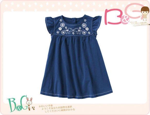 【B& G童裝】正品美國進口Crazy8 大象圖樣寶藍色短袖洋裝2,3,4yrs