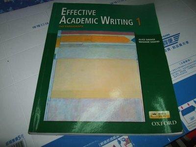 老殘二手 EFFECTIVE ACADEMIC WRITING 1 沒CD 9780194309226