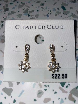 """大出清!!-""""Charter club水晶耳環"""