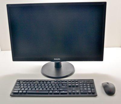 胖哥服務聯盟 DeskMini G4600 128G NVME雙碟版 24吋組合式AIO 內建喇叭