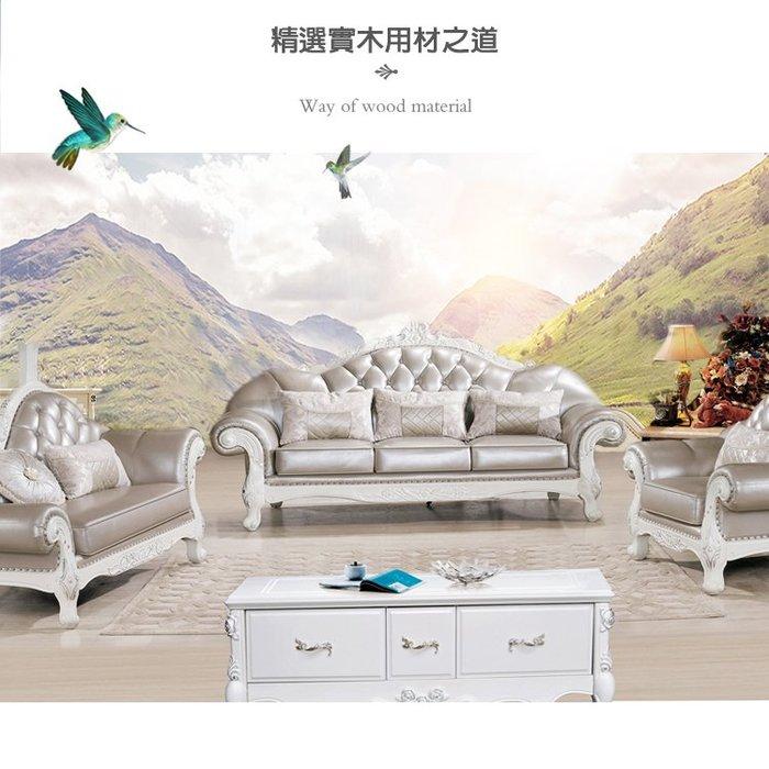 【大熊傢俱】玫瑰系列A42D 歐式布沙發 多件沙發組 美式皮沙發 布沙發 絨布沙發 休閒組椅 雕花