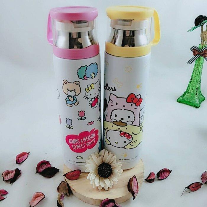 Hello Kitty 不鏽鋼保溫瓶 480ml 保冷 保溫杯 正版 冷水壺 水杯 凱蒂貓 布丁狗 禮物 KT 隨身瓶