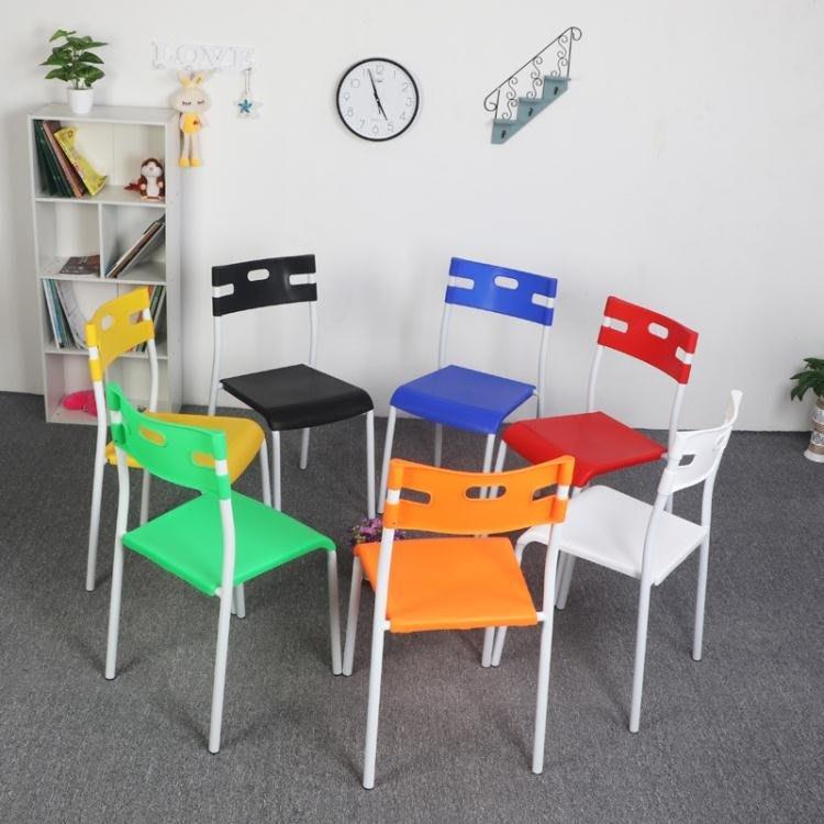 椅子-2張塑料椅子靠背現代簡約休閒椅簡易加厚靠背椅家用餐椅精品生活