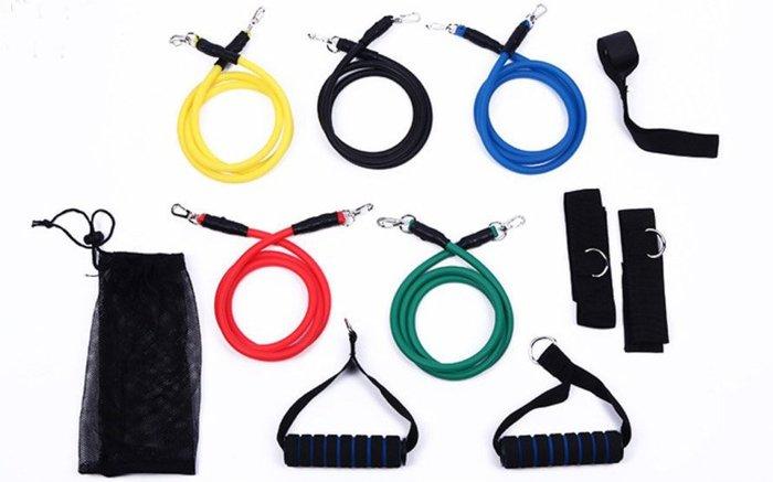『巷子口93』含發票 11件套裝組  拉力繩 拉力帶 瑜珈 彈力繩  阻力帶  TRX 彼拉提斯帶  20~100磅