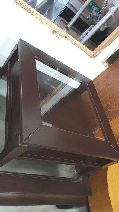 新竹二手家具買賣來來- 出清&胡桃木心板玻璃方型茶几~新竹搬家公司|竹北-新豐竹南頭份-2手-家電買賣中古實木-傢俱沙發-茶几-衣櫥-床架-床墊-冰箱-洗衣機