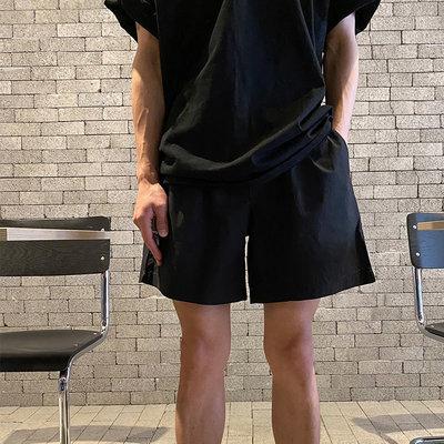 KOREALINE搖滾星球 / 鬆緊腰休閒短褲/ 2色 / YUE3639