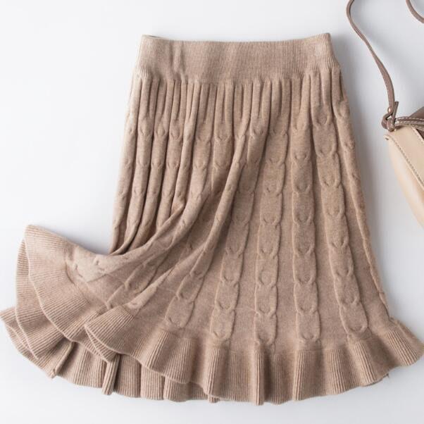 針織半身裙  港味百褶裙 chic修身顯瘦包臀裙 短裙—莎芭