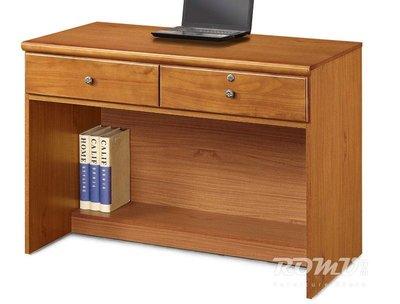 【DH】商品編號415-831-6商品名稱洛軒3.6尺樟木色雙抽簡約書桌。沉穩俐落精品。主要地區免運費