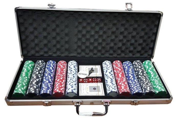【阿LIN】191619 籌碼500 無字籌碼 鐵盒 手提箱 撲克牌 骰子 鑰匙 桌遊 紙牌遊戲 押注 下注 比大小