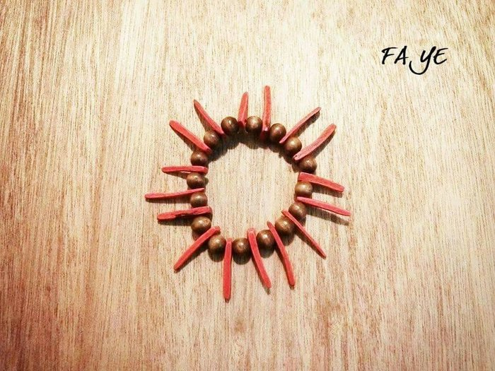 賠本 ! Faye.飾品 韓國空運~ ~木製散花波西米亞手環 實物實拍_太陽 度假 泰國