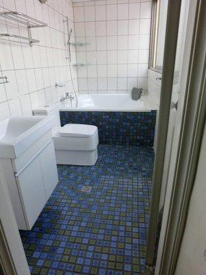 東城浴室整修.浴缸拆除+ 防水處理 +貼磁磚 衛浴換裝、改造、翻修、完工照片