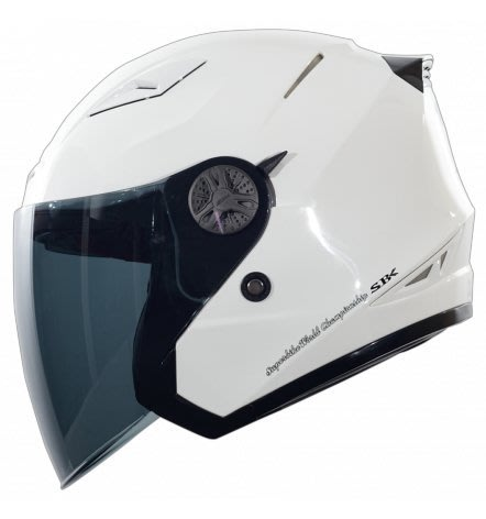 瀧澤部品 SBK TYPE-R III 亮白 半罩安全帽 素色 內藏墨片 R3 通勤 機車 重機 舒適透氣 雙D扣