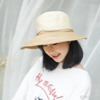 好物多商城 沙灘帽子女夏海邊度假草帽太陽帽女夏天遮陽帽女防曬大帽檐可折疊