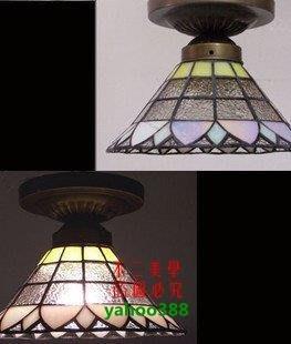 【美學】地中海現代歐美式玄關門廳浴室蒂帝凡尼彩色吸頂燈具(小號)MX_1742