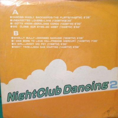 W黑膠唱片  片況不錯 換新內外袋 NIGHTCLUB DANCING2 曲目如照片