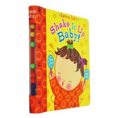 Shake It Up, Baby! 紙板書 趣味玩具書 英文原版 Karen Katz 凱倫卡茨 裝有彩珠 聽覺訓練 幼兒啟蒙認知英文原版童書繪本