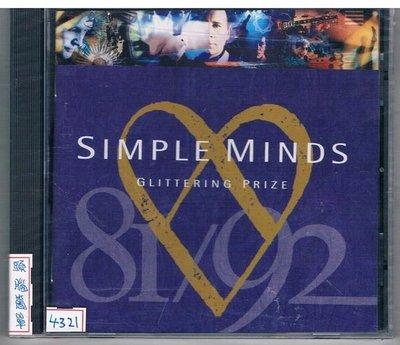 [鑫隆音樂]西洋CD-SIMPLE MINDS頭腦簡單:GLITTERING PRIZE (全新) 免競標
