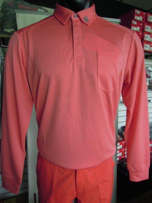 新到貨 SnoWbee 英倫時尚 鮭魚粉 長袖 高爾夫POLO衫  保暖新選擇