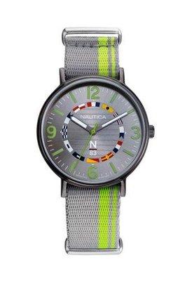 Nautica 男士手錶 NAPWGS903 N83 Wave Garden 41mm銀錶盤尼龍手錶