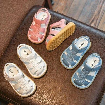 哆啦本鋪 小寶寶鞋嬰兒學步鞋包頭涼鞋防滑軟底013歲2男女童嬰幼兒鞋 D655