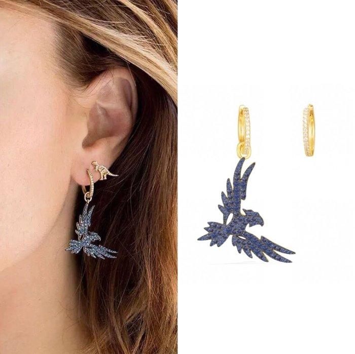 💎463、(預購)藍鑽風華獵鷹耳環💎