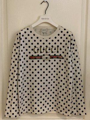 全新超美 Gucc  Polka-dot logo -Sleeve   10Y  現貨一件