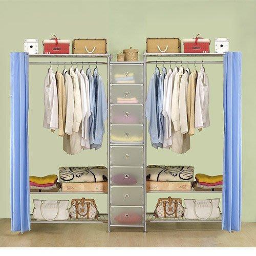 【中華批發網DIY家具】D-62B-03-W3型90+pp+W3型90衣櫥置物櫃-(前罩)不織布