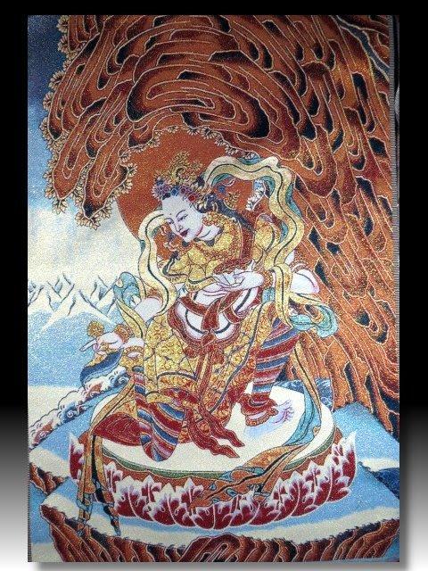 【 金王記拍寶網 】S1401  中國西藏藏密佛像刺繡唐卡  刺繡 (大張) 一張 完美罕見~