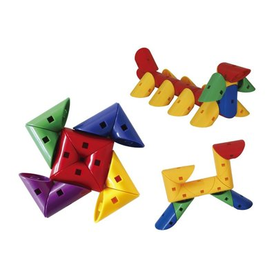 【晴晴百寶盒】台灣品牌 三角旋轉-72PC WISDOM 建構式益智遊戲 教具益智遊戲 環保無毒玩具 檢驗合格W921