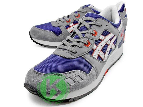 2013 復古慢跑鞋 ASICS GEL-LYTE III 3 深藍灰 麂皮 網布 亞瑟士 H306N-5013