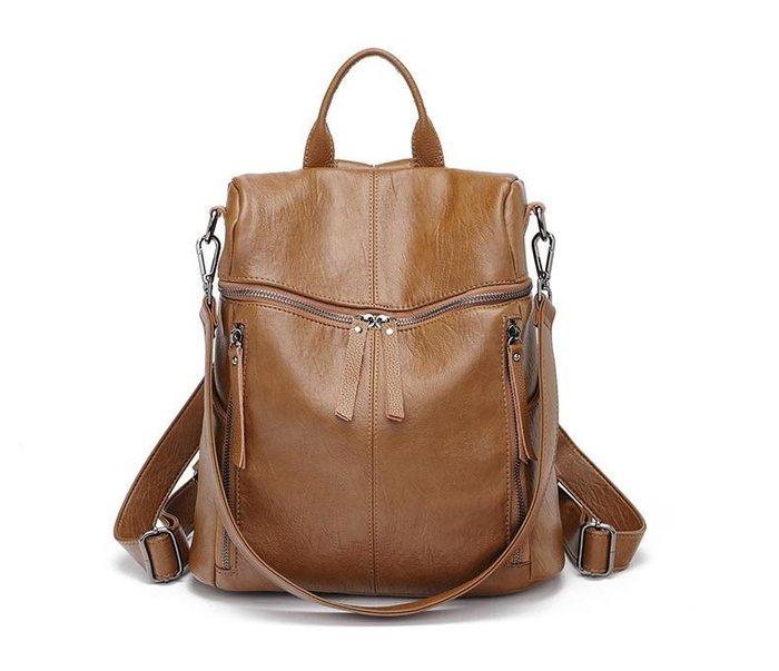 兩用包 2018最新款式領先推出 多功能背包 搭配 真皮後背包  磁扣側袋