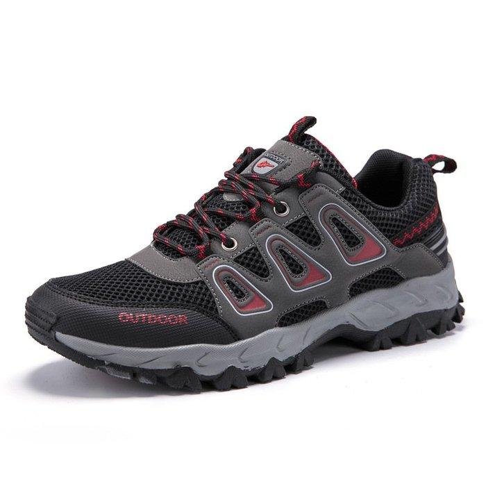 登山鞋男鞋戶外休閒鞋男防滑徒步鞋歐美涉水hiking shoes