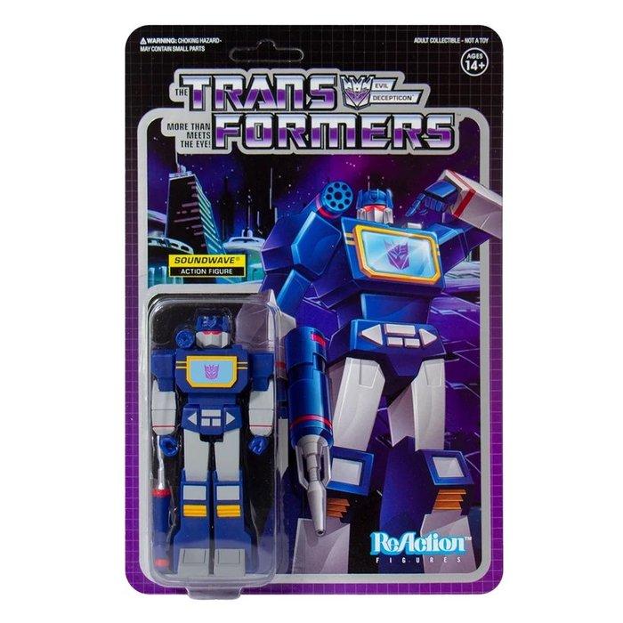 [Paradise] ReAction Transformers Soundwave 變形金剛 3.75吋復古人偶 音波