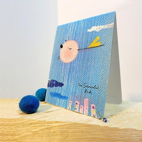 生日 卡片 小卡*散心-心意卡*不哭鳥