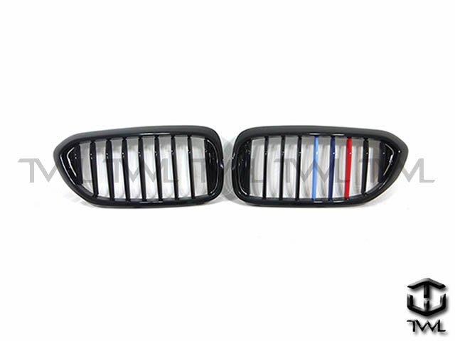 《※台灣之光※》全新 寶馬 BMW G30 G31 17 18 19年鋼琴烤漆黑亮光黑3色版三色板水箱罩大鼻頭組