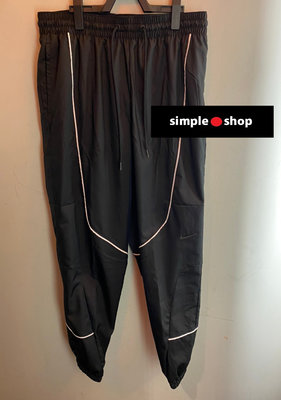 【Simple Shop】NIKE THROWBACK 縮口 運動長褲 熱身 籃球長褲 黑色 男款 CV1915-010