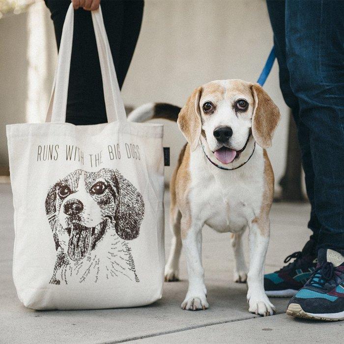 ☘小宅私物☘ 美國 P.L.A.Y. 環保購物袋 狗狗帆布包 米格魯 單肩帆布袋 寵物提袋 現貨附發票