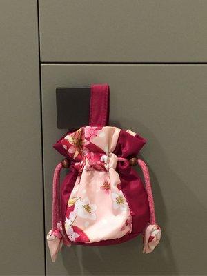 日本風典雅sakura可愛提袋收納袋收納包(一大一小)