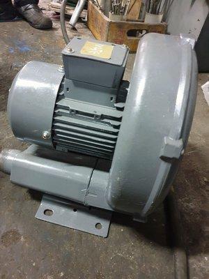 三相 1HP 環型鼓風機 氧氣補給高壓送風機 220/380V 中古馬達 馬達修理