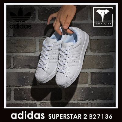 ADIDAS SUPERSTAR II 三葉草 貝殼頭 經典全白 情侶板鞋 B27136