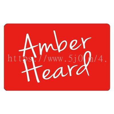 〈可來圖訂做-卡貼 應援貼紙〉Amber Heard 安柏赫德 貼紙 悠遊卡貼紙