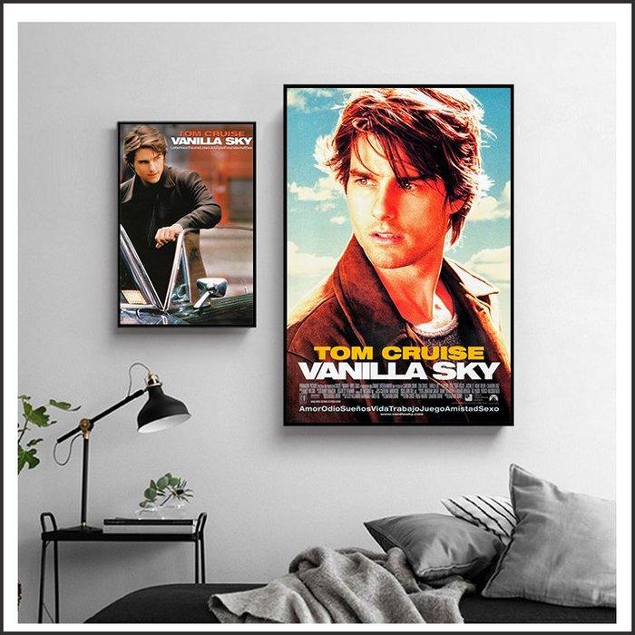 日本製畫布 電影海報 香草天空 Vanilla Sky 掛畫 嵌框畫 @Movie PoP 賣場多款海報~
