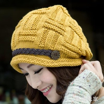 帽子女冬天韓版秋冬季保暖冷帽加絨厚中老年人月子護耳針織毛線帽 ys7609
